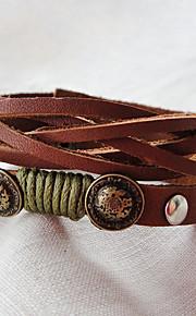 Læder Armbånd 1pc,Brun Armbånd Legering / Læder Smykker Dame
