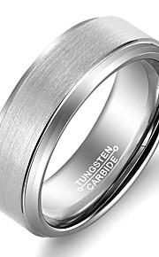 Herre Båndringe,Smykker Sølv Moderigtig / Vintage Bryllup / Party / Daglig / Afslappet Wolfram stål 1pc,7 / 8 / 9 / 10 / 11 / 12 / 13