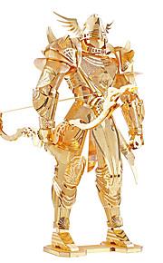 Quebra-cabeças Quebra-Cabeças 3D / Quebra-Cabeças de Metal Blocos de construção DIY Brinquedos Guerreiro Metal DouradaModelo e Blocos de