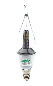 7W E14 LED-lysestakepærer S14 25 SMD 2835 600 lumens lm Varm hvit Dekorativ AC 85-265 / AC 220-240 V 1 stk.