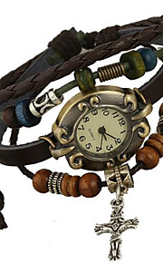 tabela do vintage pulseira de couro de liga artesanal das senhoras