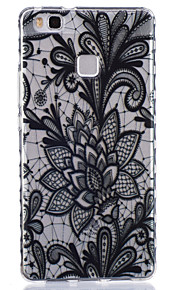 Black Rose Pattern PU Material Phone Case for Huawei P9 Lite/P9