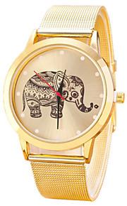 Mulheres Assista Quartz Relógio de Moda Relógio Casual Aço Inoxidável Banda Relógio de Pulso Dourada