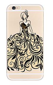 Kakashi blonder utskrift tpu maleri myk sak for iPhone 6s / 6/6-ere pluss / 6 pluss (prinsesse)