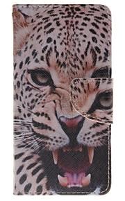 Африканский держатель леопарда карточки бумажника PU кожаный чехол для телефона Huawei P9 / p9lite