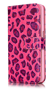 PU Leather Embossed Pink Leopard Wallet Case with 9 Card Slots for iPhone 6s 6 Plus