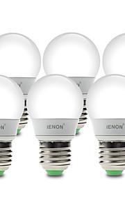 3W E26/E27 LED-globepærer G60 6 SMD 210-240 lm Varm hvit / Kjølig hvit Dekorativ AC 100-240 V 6 stk.