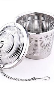 304 rustfritt stål te blad krydder beholder (e)
