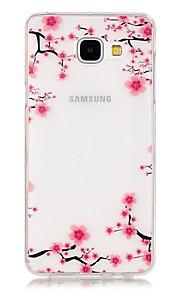 TPU de alta pureza translúcido céu aberto da flor de ameixa padrão de caixa do telefone macio para Galaxy A310 / A510