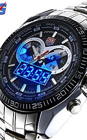 Masculino Relógio Esportivo / Relógio de Pulso Quartzo JaponêsLED / Calendário / Impermeável / Dois Fusos Horários / alarme / Relógio