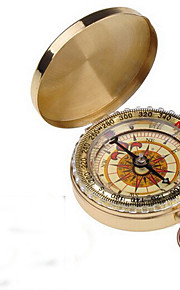 Outdoor Camping Hiking Portable Brass Pocket Golden Compass Navigation H1E1