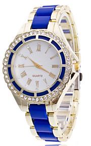 Mulheres Relógio de Moda Quartz Relógio Casual Lega Banda Relógio de Pulso Dourada