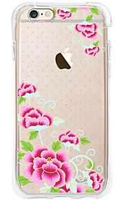 kakashi bloempatroon TPU schilderij airbag Hoogte- zachte hoes voor de iPhone 6s / 6 / 6s plus / 6 plus (China Rose)