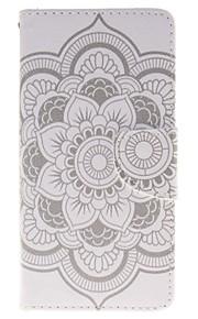 белый держатель цветок карты бумажник PU кожаный чехол для телефона Huawei P9 / p9lite