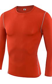 Hardlopen Sweatshirt / T-shirt Heren Lange Mouw Ademend / Sneldrogend / Compressie / Zweetafvoerend Fitness / Hardlopen Sportief