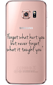 terug Ultradun / Oranjegeel Word / Phrase TPU Zacht soft Ultra-thin Transparent Geval voor Samsung GalaxyS7 edge / S7 / S6 edge plus / S6