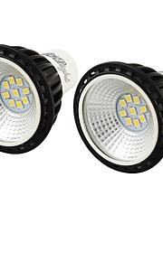 5W GU10 LED-spotpærer MR16 9 SMD 2835 450 lm Kjølig hvit Dekorativ AC 100-240 V 2 stk.