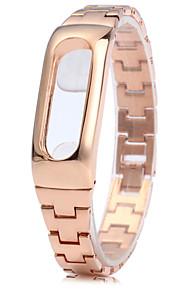cinta de aço inoxidável pulseira de design anti-perdida para Xiaomi miband