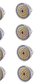 7W GU5.3(MR16) LED-spotpærer MR16 48 SMD 2835 600 lm Varm hvit Dekorativ DC 12 V 8 stk
