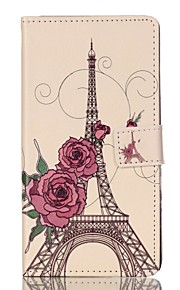Full Body Wallet / Card Holder / with Stand / Flip Eiffel Tower PU Leather Hard Case Cover For HuaweiHuawei P9 / Huawei P9 Lite / Huawei