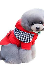 Katzen / Hunde Mäntel Rot / Blau Winter / Frühling/Herbst Britsh / Hahnentrittmuster warm halten / Modisch, Dog Clothes / Dog Clothing-