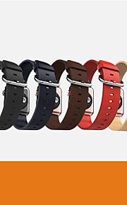 Marrón Café / Rojo / Negro / Azul / Amarillo Piel 款式新颖美观、工艺精致 Hebilla Moderna Para Apple Reloj 38mm / 42mm