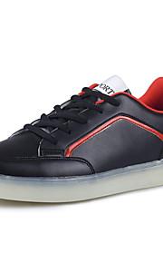 Zapatos de Hombre-Bailarinas-Exterior / Casual-PU-Negro / Rojo / Blanco