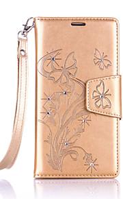 풀 바디 카드 홀더 / 라인석 / 튀기다 꽃장식 인조 가죽 소프트 Diamonds+Lanyard+High-Grade Leather 케이스 커버를 들어 Nokia Nokia Lumia 650 / Nokia Lumia 550
