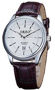 Casal Relógio de Moda Quartz Relógio Casual PU Banda Preta / Marrom marca