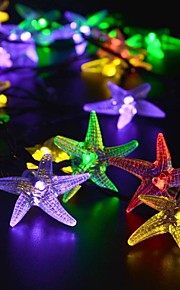 Solar Fairy String Lights 10m/33ft 60 LED Starfish Decorative Gardens, Lawn, Patio, Christmas Trees, Weddings