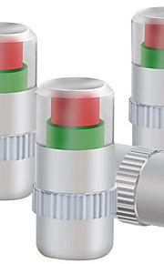 Four Installed Metal Cap Tire Pressure Monitoring Tire Pressure Valve Cap