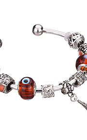 Charm-armbånd / Bangles / Manchetarmbånd / Strand Armbånd / Silver Bracelets 1pc,Blå / Brun / Grøn Armbånd Moderigtig / Yndig / Holdbar
