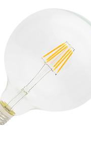 6W E26/E27 LED-glødepærer G125 6 Høyeffekts-LED 500lm lm Varm hvit Dekorativ AC 220-240 V 1 stk.