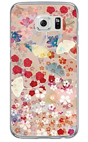 Flower and Leaf Pattern Soft Ultra-thin TPU Back Cover For Samsung GalaxyS7 edge/S7/S6 edge/S6 edge plus/S6/S5/S4