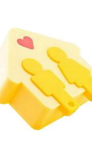 gul kärlek lodge ledde ljusstyrning med en nyckelring med dubbla användningsområden varmt gången nattlampa