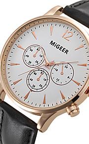 Unissex Relógio Elegante / Relógio de Moda / Relógio de Pulso Quartz / Couro Banda Legal Preta / Marrom marca