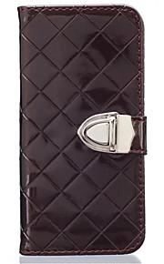 Hel kropp plånbok / Korthållare / Stötsäker Solid Färg PU-läder Mjuk Can insert card, drop Fallet täcker för Samsung Galaxy Note 5