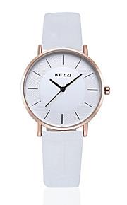 Mulheres Relógio de Moda Quartz Impermeável Couro Banda Vintage Preta / Marrom marca