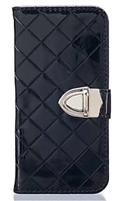 Hel kropp plånbok / Korthållare / Stötsäker Solid Färg PU-läder Mjuk Can insert card, drop Fallet täcker för Samsung GalaxyJ5 (2016) / J5