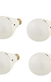 9W E26/E27 LED-globepærer A60(A19) 20 SMD 5730 650 lm Varm hvit / Kjølig hvit Dekorativ AC 220-240 V 4 stk.