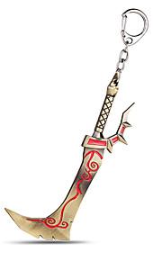 World of Warcraft ligas de zinco espada / machado chaveiro jóias (wow)