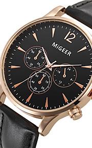Unissex Relógio Elegante / Relógio de Moda / Relógio de Pulso Quartz / Couro Banda Legal Preta marca