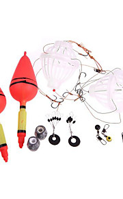 Silver Carp Fishing Float Bobber Sea Monster with Six Strong Explosion Hooks Two Fishing Tackle Sets with Box