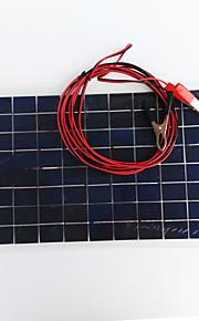 zdm® 10w 12v выход 0.65a монокристаллического кремния панели солнечных (dc12-18v)