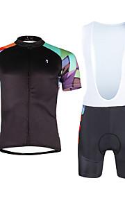 Cycling PaladinSport Men Shirt + Straps Shorts Suit DX662 Colored Squares