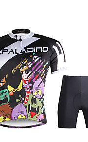 Breathable Paladin Summer Male Short Sleeve Cycling Jerseys Suit 100% Polyester DT681 Elf Family