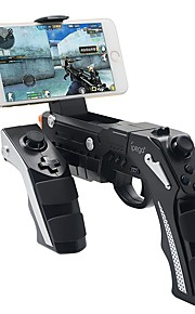 Shoot Game Wireless Bluetooth Gun Controller Motor Vibration   Controller for 4 to 6 inch Smartphone iPhone