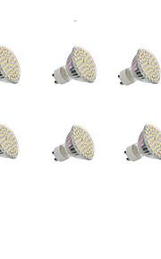 5W GU10 LED-spotpærer Innfelt retropassform 60 SMD 3528 300LM lm Varm hvit / Kjølig hvit Dekorativ AC 220-240 / DC 12 V 6 stk.