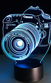1 stk berørings 3 d ledet fargerik visjon lampe gave atmosfære bordlampe endre farge nattlys