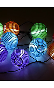 vanntett 3m 10led solar lykt jul ledet streng lys